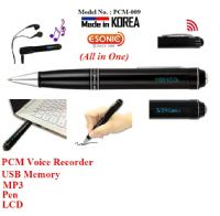 MemoQ Digital Voice Recorder & Mp3 Player Pen (PCM 009)